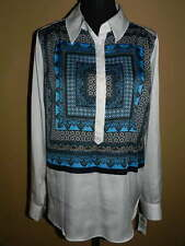 Women's INC International Concepts L/S Oceana BLOUSE New NWT Size 12