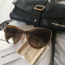Balenciaga Women's Cateye Sunglasses BA0001 45F BA 1 56mm Italy $400 NWT Case