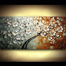 Modern hand-painted Art Oil Painting Wall Decor canvas,Tree Flower(No Frame)