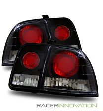 For 96-97 Honda Accord Black Altezza Tail Lights Rear Brake Lamps