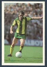 LEAF 100 YEARS OF SOCCER STARS-1987-#096-WBA-LEICESTER CITY-WALSALL-ALLY BROWN