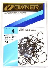 OWNER MUTU LIGHT WIRE CIRCLE HOOK SUPER NEEDLE #5314-071 SIZE 4 QTY 51