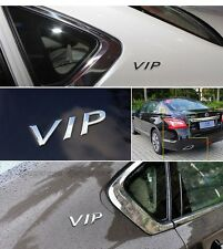 Car Metal Sticker 3D Silver Stereo VIP Emblem Decal Side Body Styling Decoration