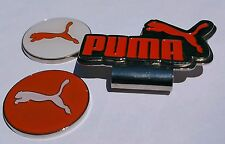 Brand New Double Orange/White Puma Golf Ball marker with hat clip!!