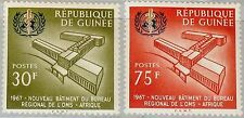 GUINEA 1967 464-65 489-90 WHO Office of Africa OMS Buildings Architecture MNH
