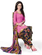 Elegant Crepe Designer Printed Patiala Unstitched Dress Material Suit.No RE4515