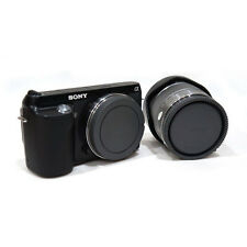 Black Rear Lens Cap + Camera Front Body Cover for Sony E-Mount NEX-3 NEX-5 Tool