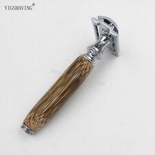 Handmade Bamboo Handle Double Edge Safety Shaving Razor for Men