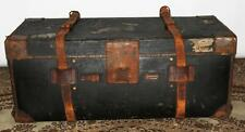 Edwardian ARMY & Navy cooperativa società LEATHER Bound TRAVEL TRUNK [ pl1889 ]