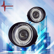 For 02-04 Nissan Altima Fog Lights Clear Lens Halo Projector Front Lamps PAIR