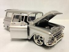 1957 Chevrolet Suburban,1:24 Diecast Scale, Collectible, Jada Toy, Candy Silver