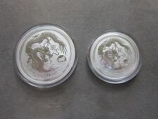 "2012 $1 (1oz) 50 cents (1/2 oz) ""Year of the Dragon""  Coin - Lunar Series II"