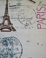 Canvas Fabric Paris Medium Weight 100% Cotton 140cm Wide Sold Per M FREE P+P
