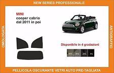 pellicola oscurante vetri pre tagliata mini cooper cabrio dal 2011 kit post