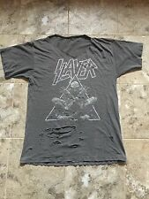 Vintage SLAYER T Shirt 90s Divine Intervention Thrashed SIZE L/XL