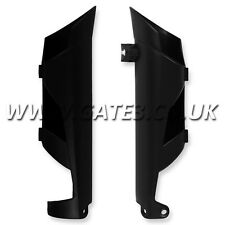 KTM 350XCF XC-F 350 2011-2014 BLACK FRONT LOWER FORK GUARDS ENDURO CROSS COUNTRY