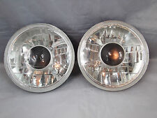 """97-15 Jeep Wrangler TJ JK 7"""" Projector Round Chrome Replacement Clear Headlights"""
