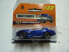 MATCHBOX REF 32 DODGE VIPER RT/10 BLEU METALISE NEUF EN BLISTER SERTI