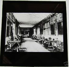 Glass Magic Lantern Slide THE LONG GALLERY PENSHURST PLACE C1900