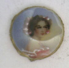 Antique Round MINI Painted Photograph Locket Insert Pendant & Curved Glass #ZZ51