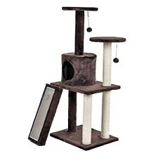 Brown Pet Cat Tree Condo Furniture Scratch Tower Kitten Pet Play House Cat Toy