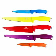 Top Chef 5-piece Stainless Steel Kitchen Knife Set with Non-stick Color Coating