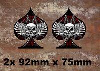 2 x Ace  Vinyl Graphic, Sticker, Decal, Custom, Bike, Car ,Tuning 080