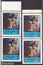 "Canada: #502i 502pi 5c Christmas Children, ""Arc on Chin"" Variety Set MNH CV$25*"