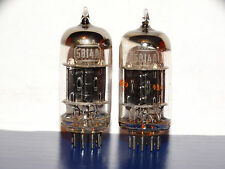 2 x 5814A(12au7) RCA Tubes *Black Plates*S-Rods*Small O Getter*