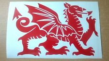 wales welsh dragon vinyl car sticker laptop door wall art fun grahpics decals