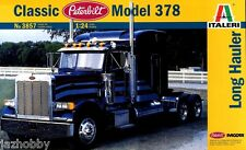 Italeri 3857 1/24 Scale Model Truck Kit Classic Peterbilt 378 Long Hauler