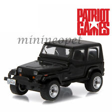 GREENLIGHT 44730 B PATRIOT GAMES 1987 87 JEEP WRANGLER YJ 1/64 DIECAST BLACK