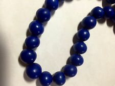 Royal Blue Tagua Nut Wood Beads 9mm 10mm  20pc