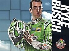 """2017 KYLE BUSCH """"INTERSTATE BATTERIES"""" #18 NASCAR MONSTER ENERGY CUP POSTCARD"""