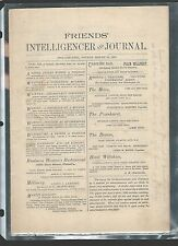 Fourth month 16 1892 FRIENDS INTELLIGENCER and JOURNAL QUAKERS Philadelphia PA