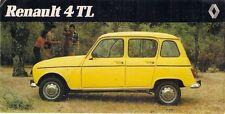 RENAULT 4 TL ESTATE 1982 mercato spagnolo FOLDOUT BROCHURE DI VENDITA