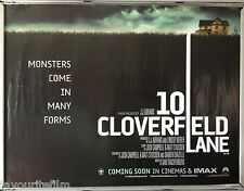 Cinema Poster: 10 CLOVERFIELD LANE 2016 (Advance Quad) Mary Elizabeth Winstead