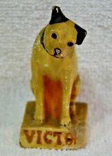 VINTAGE RCA VICTOR PHONOGRAPH NIPPER DOG ADVERTISING MASCOT FIGURINE STATUE 4""