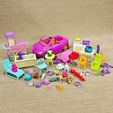 Polly Pocket Doll Popcorn Cart Convertible Car Furniture Animal Pets Hats Purses