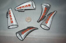 "Texas Longhorns ""UT"" 3 1/4"" Bullhorn Logo Patch College 5 Patch Lot"