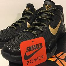 NEW DS Nike Zoom Kobe VII 7 System Elite sz 10.5 Gold Black MVP 511371-001 Final