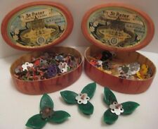 2 Old German Boxes St Peter Christmas Miniature Candle Floaters Nurnberg
