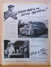 Vintage 1946 ad for Chevrolet & Body by Fisher - Fleetmaster Sport Sedan photos