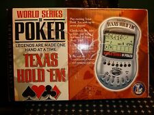 Excalibur World Series Of Poker Texas Hold' Em Hand Held  Game with Box