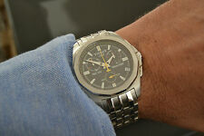 men's TISSOT PRC 100 VINTAGE CHRONOGRAPH WATCH MONTRE, STAINLESS STEEL WITH BAND