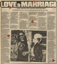 18/9/82Pgn03 Article & Picture(s) MOTORHEADS LEMMY & WENDY O WILLIAMS