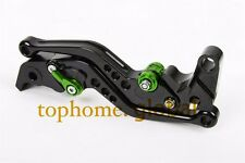 Short Clutch Brake Levers for Kawasaki Z250 13-14/  Z300 2013-2016 CNC Black