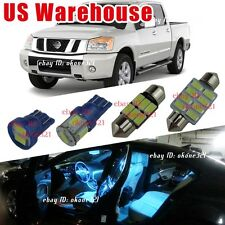 13-pc Aqua Blue Interior LED Lights Package Kit For Nissan Titan 2004 and up