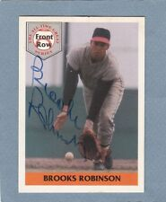1992 FRONT ROW BROOKS ROBINSON AUTOGRAPH AUTO ON CARD 2,588/5,000 RARE