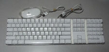 Tested & Working APPLE Mac Pro A1048 White USB Keyboard Wired and Mouse M5769